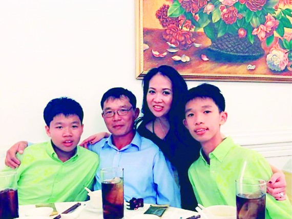 Ms. Ngoc Van and her family