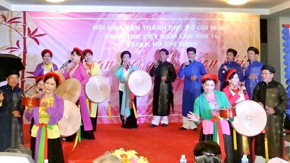An art perfromance in Vietnam Poetry Day in HCM City