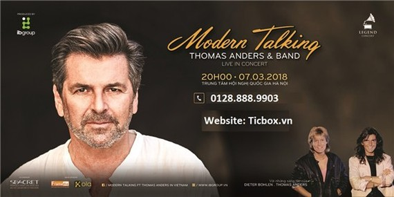 World-famous German popstar Thomas Anders to hit stage in Hanoi