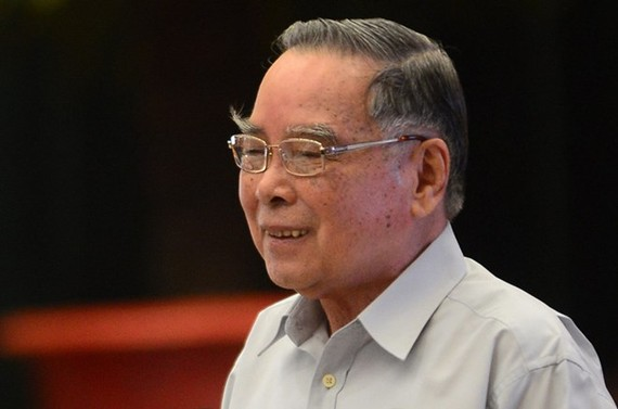 Former Prime Minister Phan Van Khai at a symposium in 2015. (Source: tuoitre.vn)