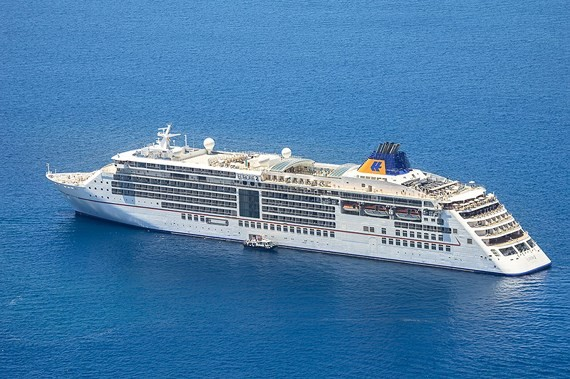The five-star cruise ship MS Europa 2