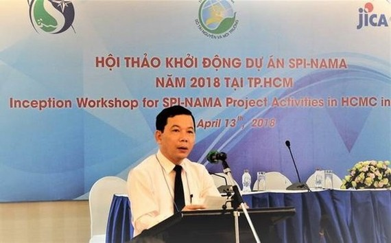 Deputy head of Climate Change Department Truong Duc Tri (Source: VNA)