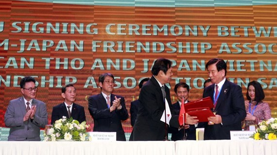 "A conference titled ""Meeting Japan- Mekong Delta region"" opens in the Mekong Delta city of Can Tho. (Photo: baocantho)"
