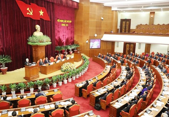The seventh plenary session of the 12th-tenure Party Central Committee opens on May 7 (Photo: VNA)