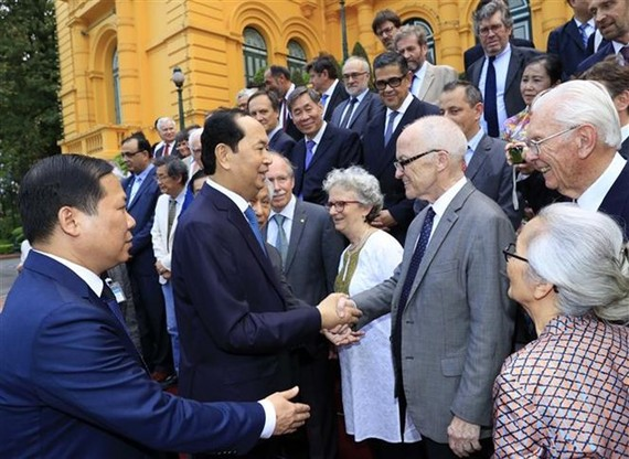 President Tran Dai Quang meets Vietnamese and foreign scientists (Source: VNA)