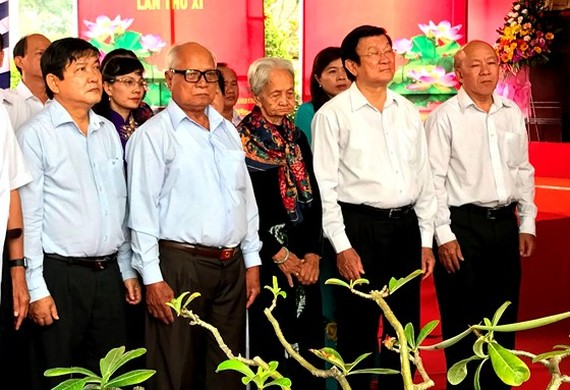 At the ceremony commemorating 70 years of 200 soldiers and unarmed Vietnamese civilians killed in Rach Gia-Hung Long. (Photo: sggp)