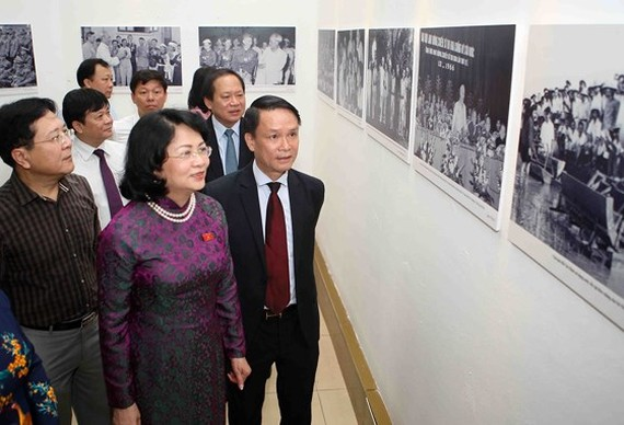 Vice President Dang Thi Ngoc Thinh attends the opening ceremony of the event.  (Photo: Sggp)