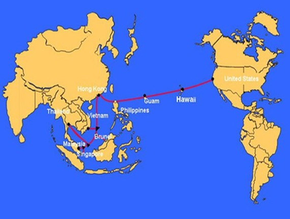 The Asia America Gateway (AAG) undersea cable continues to suffer from a breakdown. (Photo: zing.vn)