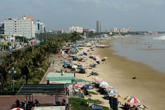 A view of Vung Tau beach (Photo: VNA)