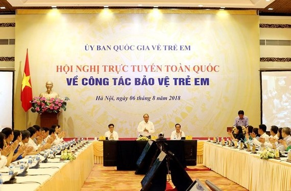 Prime Minister Nguyen Xuan Phuc addresses the conference (Photo: VNA)