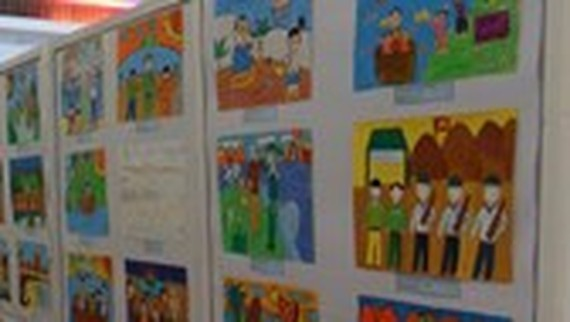 Children's painting exhibition honors late President Ton Duc Thang