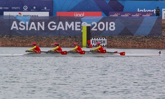 Vietnamese female rowing team (Source: vnexpress.net)