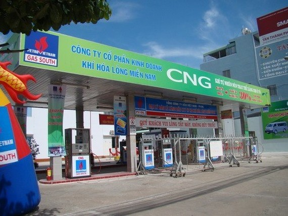 HCM City will build more CNG filling stations to meet refueling demand of buses running on CNG. (Illustrative photo: www.pvgas.com.vn)