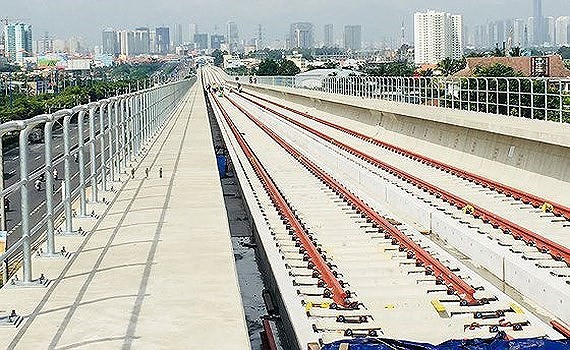 The Ho Chi Minh City's first metro line Ben Thanh-Suoi Tien construction project