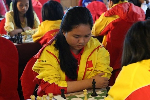 Vietnamese chess player Bach Ngoc Thuy Duong  (Photo: zing.vn)