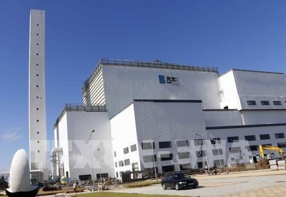 The Thoi Lai waste-to-energy plant in the Mekong Delta city of Can Tho is expected to be put into official operation in late November. (Photo: VNA)