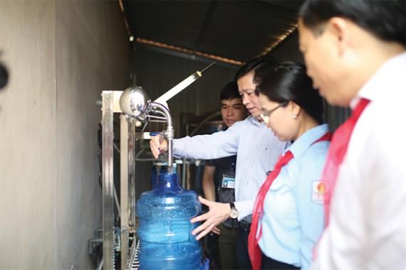 Công trình nước sạch Trường Tiểu học Hồ Sơn, huyện Hữu Lũng, tỉnh Lạng Sơn  do Suntory PepsiCo Việt Nam tài trợ