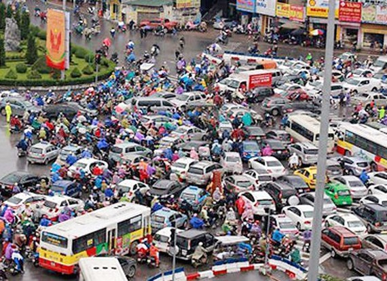 Ùn tắc giao thông tại Ô Chợ Dừa - Xã Đàn