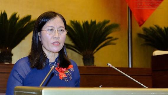 Chủ nhiệm Ủy ban Tư pháp của Quốc hội Lê Thị Nga
