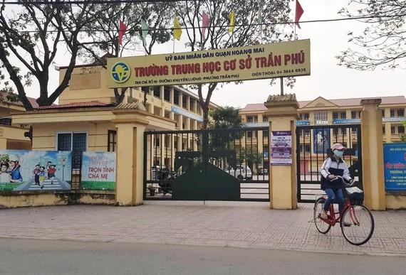 Trường THCS Trần Phú - nơi xảy ra sự việc dư luận đang quan tâm