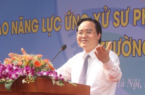 Ông Phùng Xuân Nhạ, Bộ trưởng Bộ GD-ĐT phát biểu tại lễ phát động