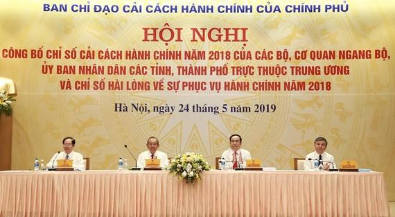 Công bố Chỉ số CCHC năm 2018 của các bộ, cơ quan ngang bộ, UBND các tỉnh, thành và chỉ số hài lòng về sự phục vụ hành chính năm 2018.