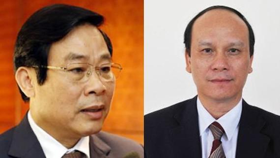 Ông Nguyễn Bắc Son và ông Trần Văn Minh (phải)