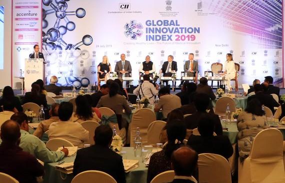 Một phần của buổi lễ công bố GII 2019 ở New Delhi, Ấn Độ
