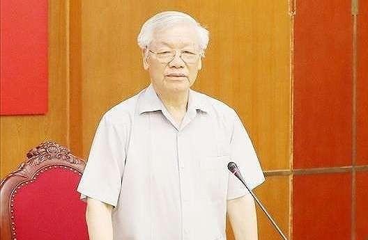 Tổng Bí thư, Chủ tịch nước Nguyễn Phú Trọng chủ trì phiên họp. Ảnh: TTXVN