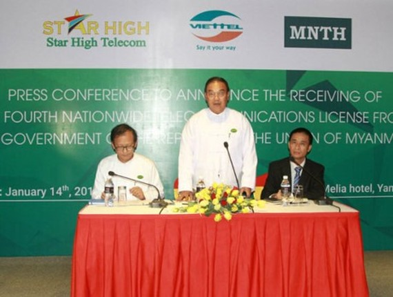 Viettel Global receives the licence to become the fourth telecom provider in Myanmar. — Photo courtesy of Viettel