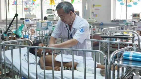 The boy is under treatment in Ho Chi Minh City-based Children Hospital No.1 (Photo: SGGP)