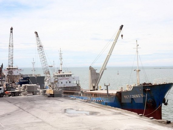 Nghi Son deep water port in Thanh Hoa Province (Photo: VNA)