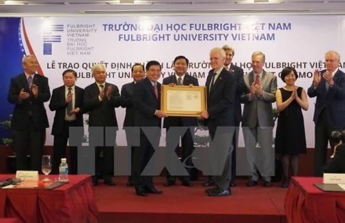 Ceremony in Ho Chi Minh City announces the establishment of Fulbright Vietnam University (Photo: VNA)
