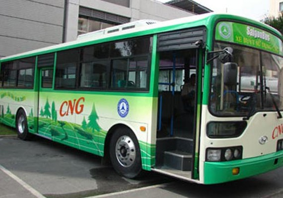 CNG-powered bus will be replaced for old vehicles in the city (Photo: SGGP)