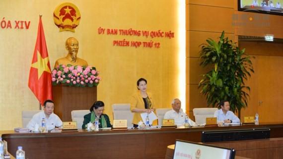 NA Chairwoman Nguyen Thi Kim Ngan speaks at the session (PHoto: SGGP)
