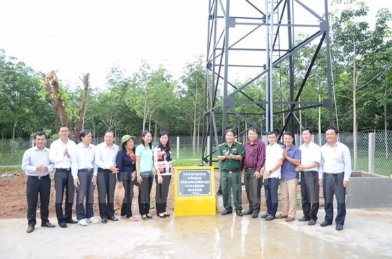 Fresh water reservoir makes available for residents in border crossings