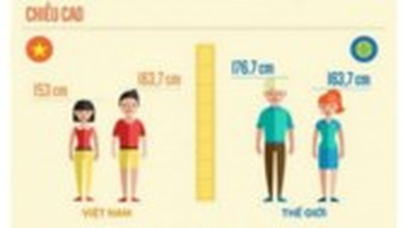 Height growth speed of Vietnamese still slow