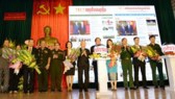 People's Army newspaper launches online Lao, Khmer language editions