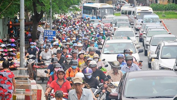 Overloaded traffic infrastructure results in congestions in HCMC