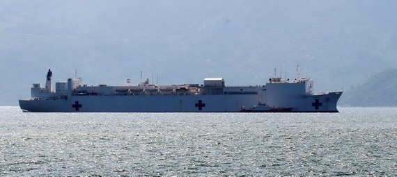 US Navy's hospital ship USNS Mercy (Source: VNA)
