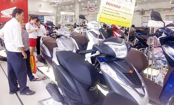 At an outlet of Honda Vietnam (Photo: SGGP)