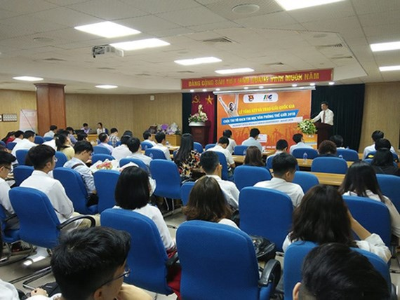The award ceremony of the selection round for the MOSWC 2018 in Vietnam