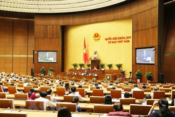 A view of the fifth session of the ongoing 14th-tenure National Assembly (Photo: VNA)