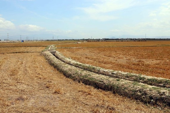 Land affected by drought in the south central province of Ninh Thuan (Photo: VNA)