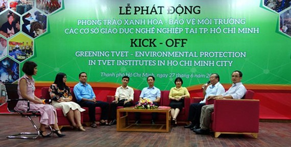 Delegates are discussing the prospect of greening TVET Institutes in HCMC