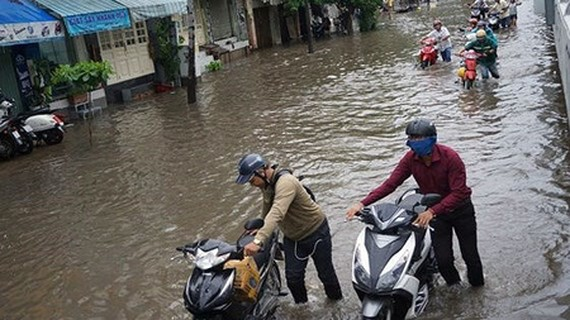The basic cause of urban flooding in HCMC is the unsuccessful sewage treatment