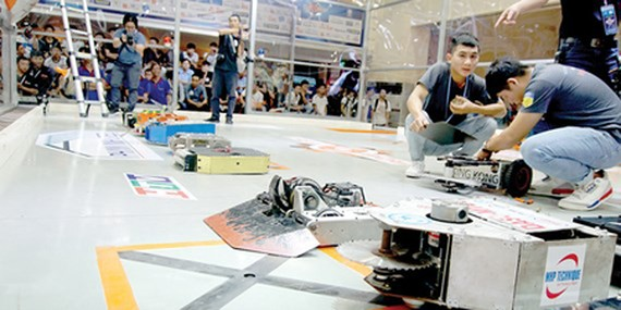 The organization board is checking all robots participating in the contest