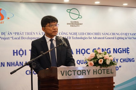 Mr. Nguyen Van Thao, Director General of HTD Center speaks at the event (Photo: Courtesy of UNDP)