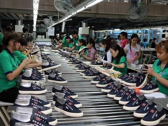 At a footwear company in the Tan Hiep A IP in Di An, Binh Duong (Source: VNA)