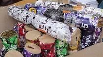 Ha Tinh police arrest man for possession of 43 kg firecracker